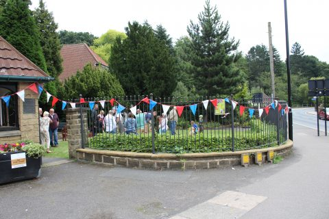 Chapeltown Garden all dressed up for VJ day celebrations