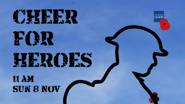 cheer for heroes piture of solider's outline