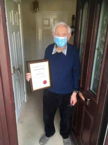 Graham Oxley receiving his Chairman's award