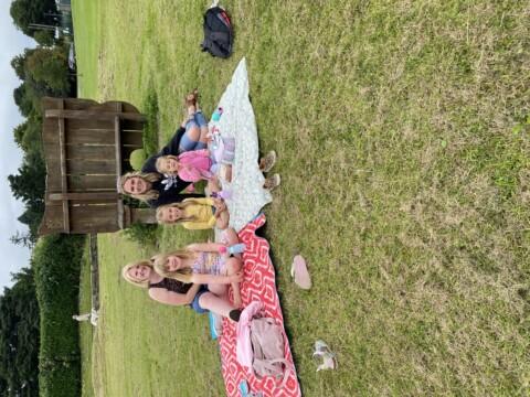 Family enjoying a picnic at Grenoside Park Nature picnic day