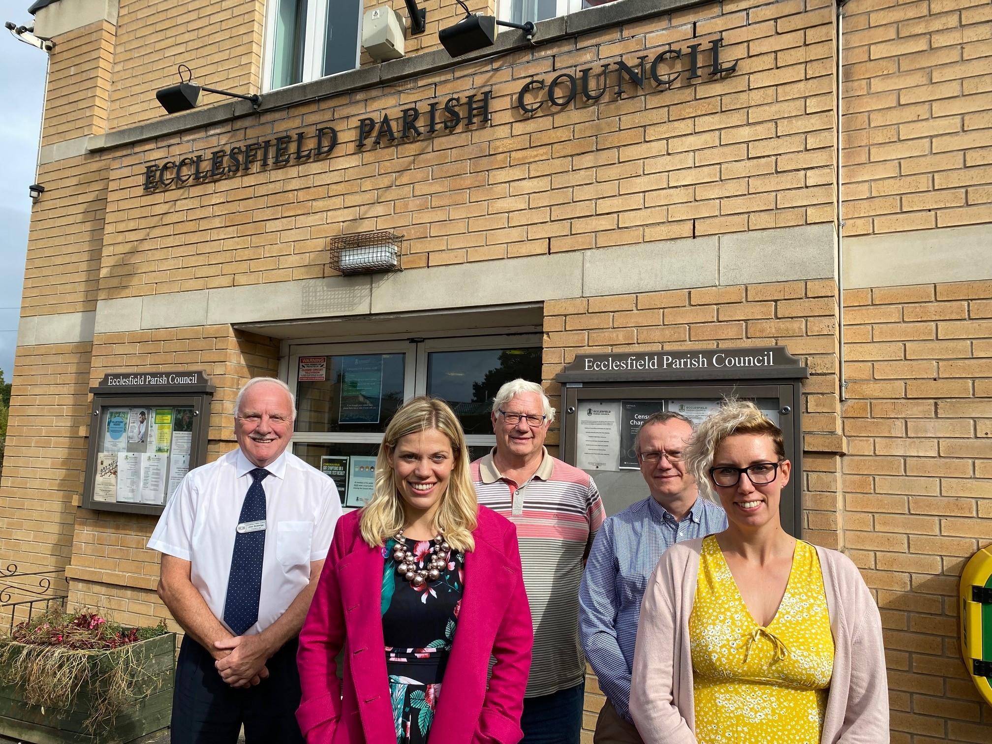 Our MP comes to visit the Parish Council